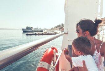Om bord på fergene